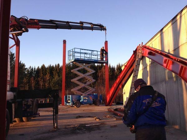 prosjekt Rødsrud plast motak as i Rygge.560m2