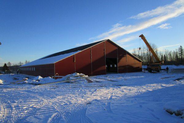 Sorknes gård, Kirkenær Isolert løsdriftsfjøs, 1473 kvm